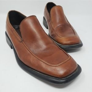 Kenneth Cole brown slip-on leather loafers 8.5